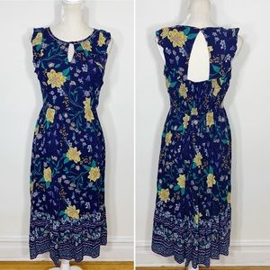 Old Navy • gauzy keyhole midi dress